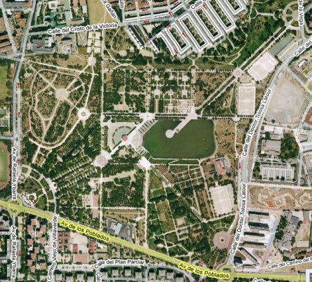 Vista aérea del Parque de Pradolongo