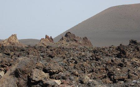 Mar de lava en el parque de Timanfaya