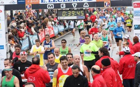 Llegando a meta en Aranjuez 2010