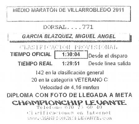 Ticket con el tiempo realizado
