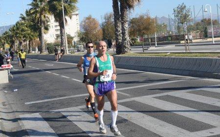 Kilómetro 38 de la maraton de Málaga