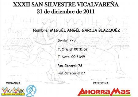 Diploma San Silvestre vicalvareña 2011