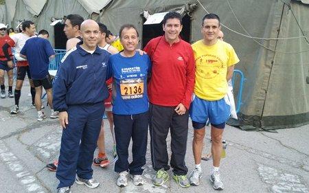 Pradolongueros en la maratón de Madrid 2012