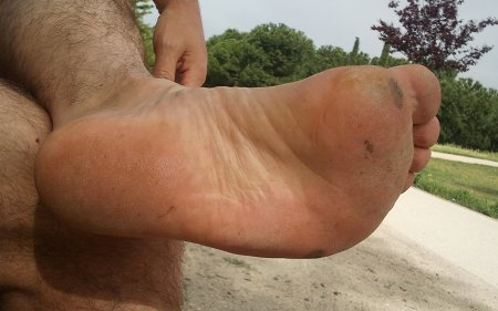 Aspecto del pie después de mi primer entreno