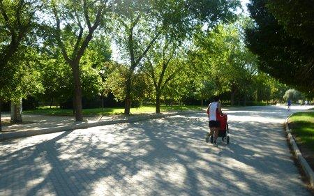 Carrera del Zofío a su paso por el Parque de Pradolongo