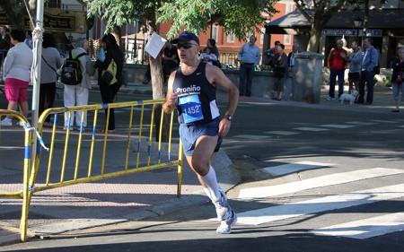 Llegando a meta en la carrera de El Pardo