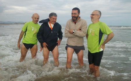 ¡Qué fría estaba el agua!